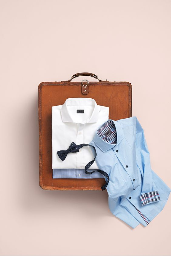 Vacation checklist. Button down shirts in a variety of colors. HM. #HMMEN