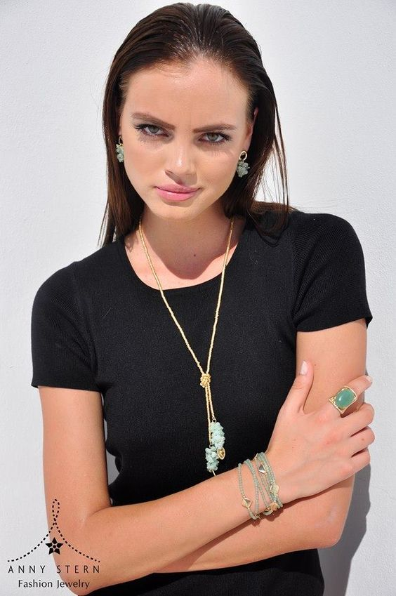 * THE BEST COMBINATION *  Amazonite, Jade and Green Aventurine are the perfect trio on this amazing set! Get summer ready and express yourself with a fierce and stunning piece of jewelry from ANNY STERN Fashion Jewelry. Our jewelry is designed with semi precious stones and precious metals including sterling silver and 18k gold filled.  >> Have you visited our website today? Fall in love with our collections and exclusive gemstone pieces at www.annystern.com <<