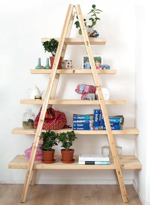 Hardware Store Home Decor - possible collaspable shelves for yardsale displays. Hmmm?: