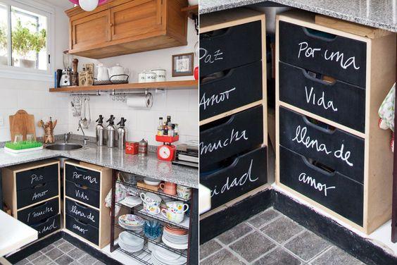 Ideas para ambientar una cocina de pocos metros ideas y - Cajoneras pequenas ...