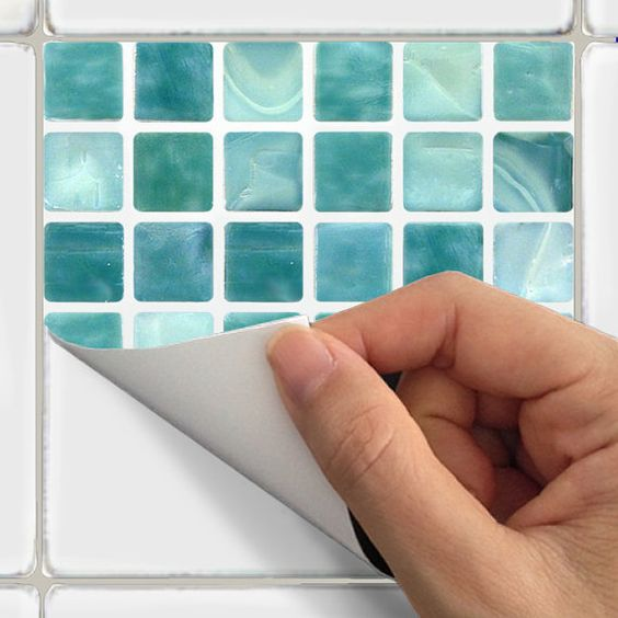 Azulejo adhesivos vinilo adhesivo impermeable azulejo de la pared ...
