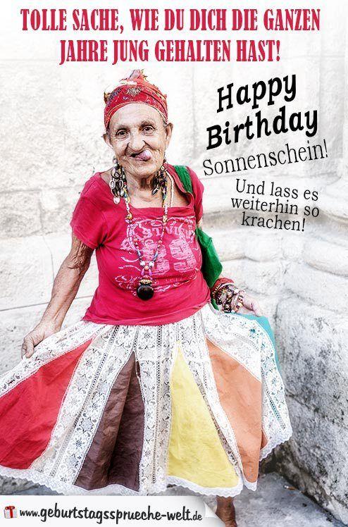 Coole Geburtstagsbilder Geburtstagswunsche Lustig Frau