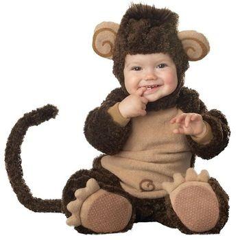 Lil' baby aap/peuter baby romper jumpsuit kostuum halloween cosplay kostuum dier onesie