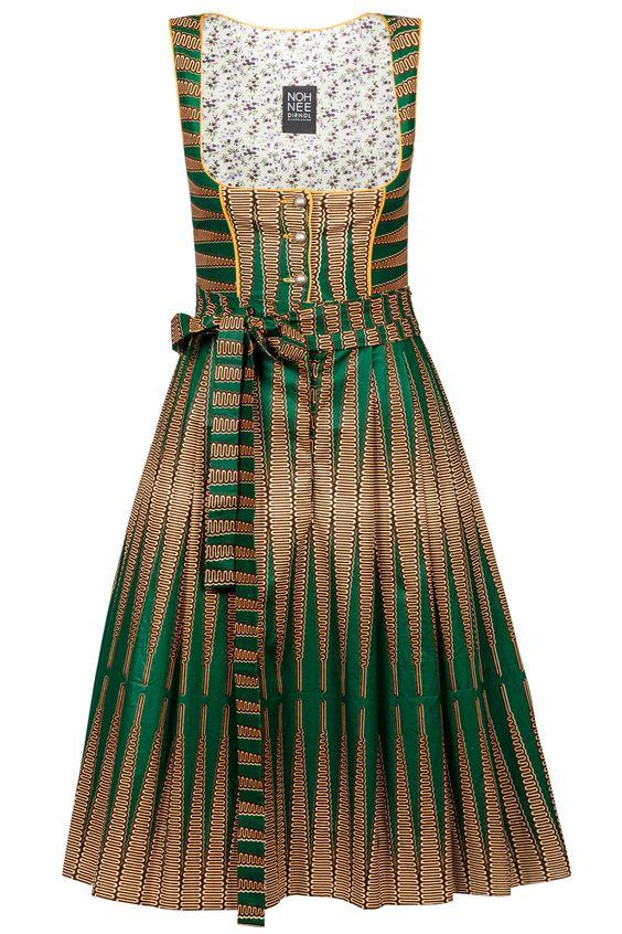 Afrikanisches Noh Nee Dirndl Thelma grün-braun - jetzt online bestellen! ✓…