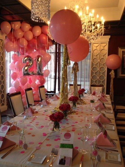 Birthdays rose petals and tables on pinterest for 21st b day decoration ideas