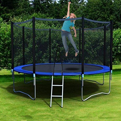 Nexttechnology 10 Feet Round Trampoline With High Safety Enclosure Uv Proof Coating Trampoline Outer Springs Ladder Reinforced Safety Pad Kids Adults Outd Outdoor Trampoline Backyard Trampoline Best Trampoline