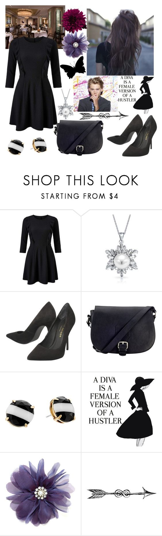 """""""Untitled #631"""" by aly-july ❤ liked on Polyvore featuring Miss Selfridge, Bling Jewelry, Kurt Geiger, John Lewis, Kate Spade and WALL"""