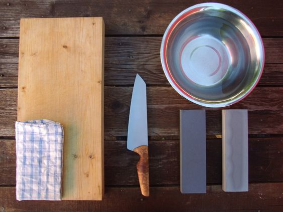 Knife sharpening setup