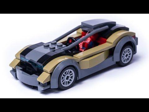 Custom Lego City Spider Man S Sports Car Moc Youtube Lego