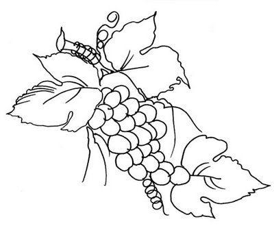 Riscos, Flores e Frutos, pintura em tecido, artesanato, modelo.