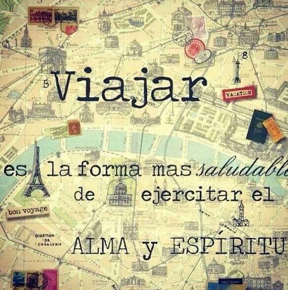 Viajar es la forma mas saludable de ejercitar el Alma y Espíritu #viajar #frases #viajeroboricua