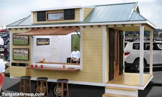 Architecturally inspired from the cottages of the Gulf Coast, this luxury tailgater is almost guaranteed to be a topic of conversation. With Phone charging stations and plugins for music, your group can party long after the game! Beside your tailgate we will setup a 10 x 20 tent, tables, coolers, chairs, and much more! #Tailgating