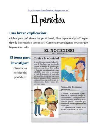 Actividades Para Trabajar Un Periódico Portadores De Texto Tipos De Texto Texto Informativo