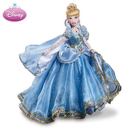 "Disney Princess Royal Ball Cinderella Doll: ""Royal Disney Princess"" Ball-Jointed Doll Collection Royal"