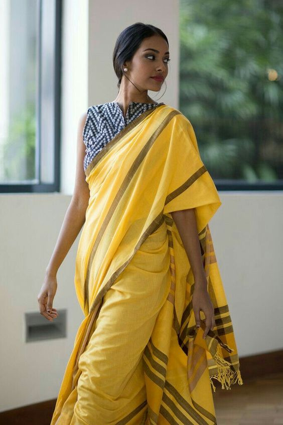 Cotton saree.. Simplicity: