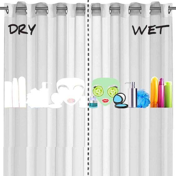 Farbwechselnder Duschvorhang