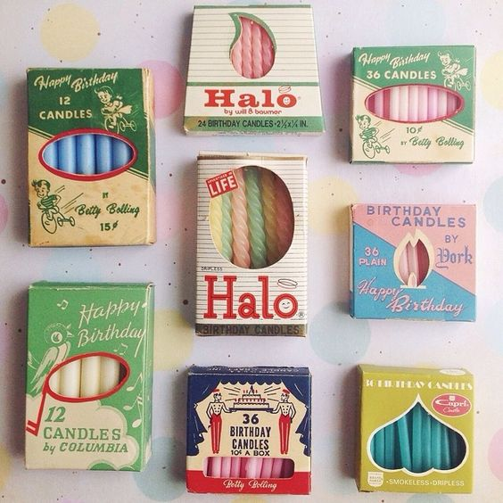Vintage Birthday Candles 79