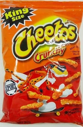 Ok Not Technically A Sweet Cheetos Crunchy Cheese Flavoured Snacks King Size 3 5 Oz 99 2g Is Made With Real And Contains 0 Grams Trans F