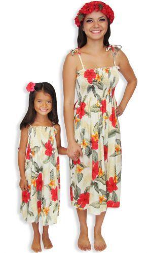 Women&-39-s Hawaiian dress with matching Girls Rayon Dress for Resort ...