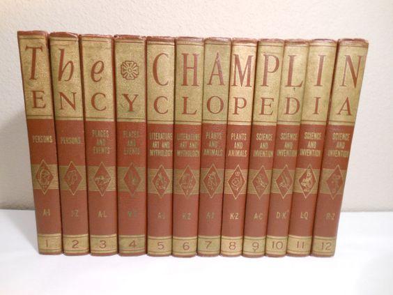 The Champlin Encyclopedia 12 Volume Set, Published 1953