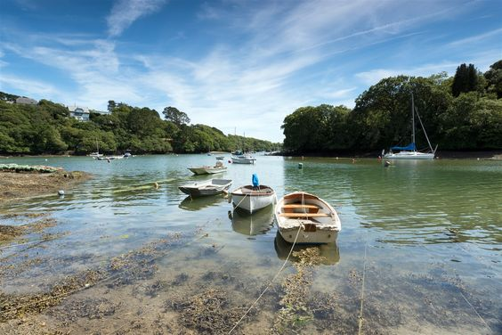 Helford River, Port Navas near Falmouth, Cornwall