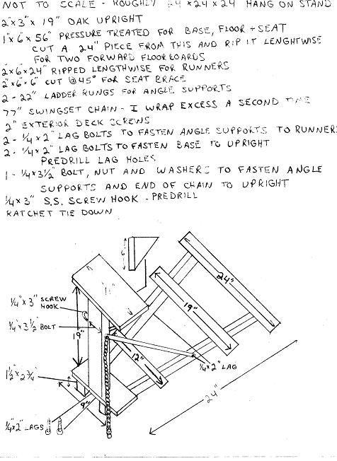 Homemade hangon stand plans.