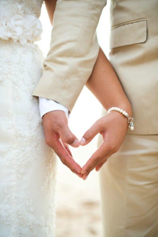A heart wedding photo idea  FInd more inspiration over at www.handmadeweddings.co.uk