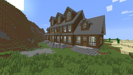 how to build a wooden mansion in minecraft pc