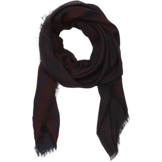 Alexander Mcqueen Navy Blue And Burgundy Ombre Silk Skull Wrap... ($536) ❤ liked on Polyvore featuring accessories, scarves, wrap shawl, navy shawl, lightweight scarves, navy blue scarves and silk scarves