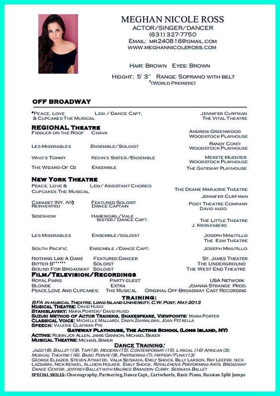 Resume Examples Dancer Resumes Cover Letters Sample For Kids Dance  Instructor Template How To Create A  How To Make A Dance Resume