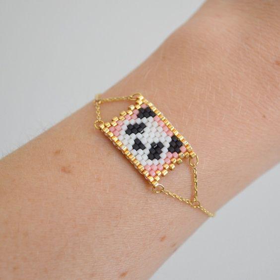 Bracelet Panda perles les cleias: