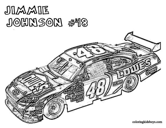 NASCAR, Coloring pages and Coloring on Pinterest