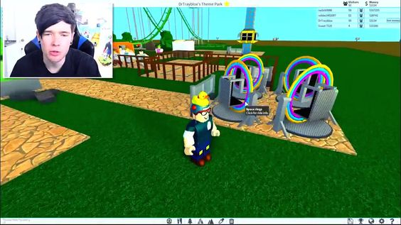 Dantdm Building My Own Building My Own Roblox Theme Park Roblox