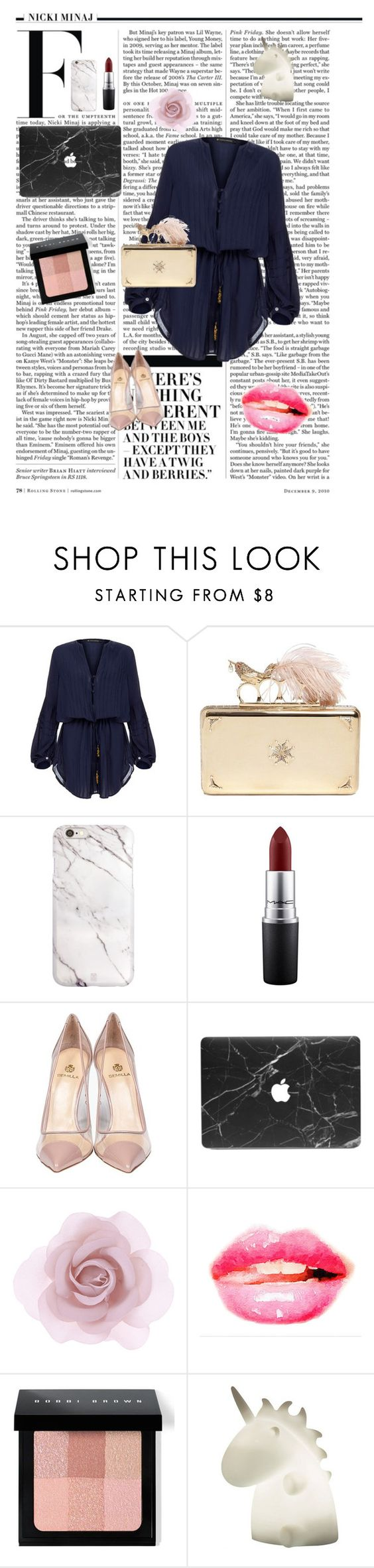 """Untitled #194"" by modeaddict-334-341 ❤ liked on Polyvore featuring Nicki Minaj, ViX, Alexander McQueen, MAC Cosmetics, Semilla, Accessorize, Bobbi Brown Cosmetics, women's clothing, women's fashion and women"
