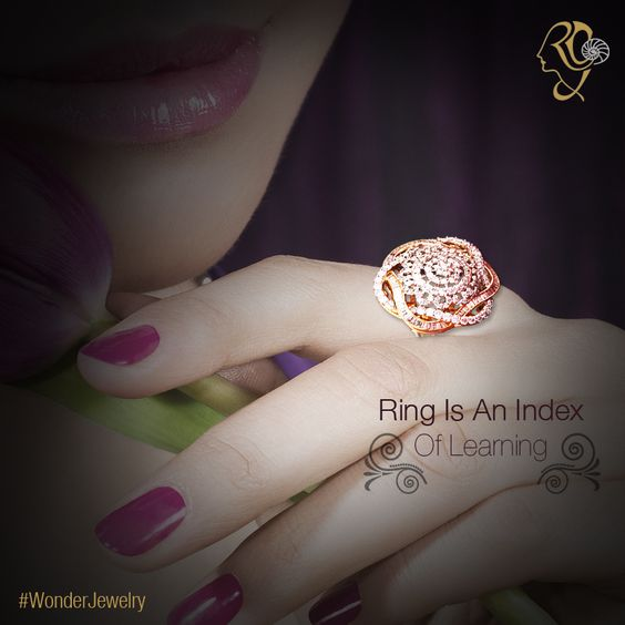 Nerves of the index ‪#‎finger‬ are said to be connected to the ‪#‎brain‬'s learning capacitor neurons. That's probably why those facing ill-situations are advised to wear a ‪#‎gold‬ ‪#‎ring‬ on the index finger. ‪#‎WonderJewelry‬
