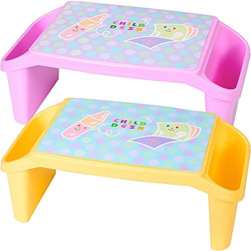 Nnewvante Lap Desk For Kids With Storage Portable Childrens Table For Homework Or Reading Breakfast Bed Tray Child Art Pla Lap Desk For Kids Bed Tray Desk Tray