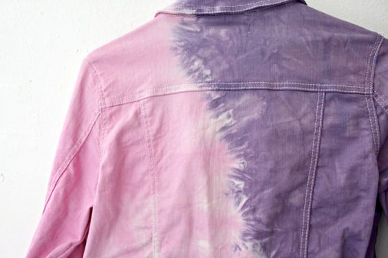 The back of the jacket got a really awesome effect between the purple and pink (1st and 3rd photos). The fabric is wonderfully light and eas...