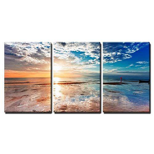 Pin By Lisa Deruiter On Beach Decor Sunset Canvas Canvas Art