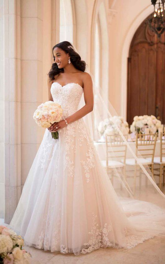 Garden Inspired A Line Wedding Dress Stella York Wedding Dresses Stella York Wedding Dress York Wedding Dress Top Wedding Dresses