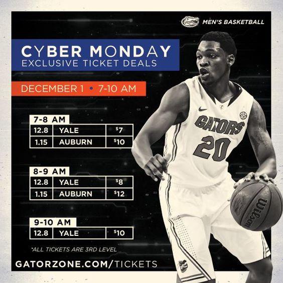 #CyberMonday discounts for Gator Men's Basketball.