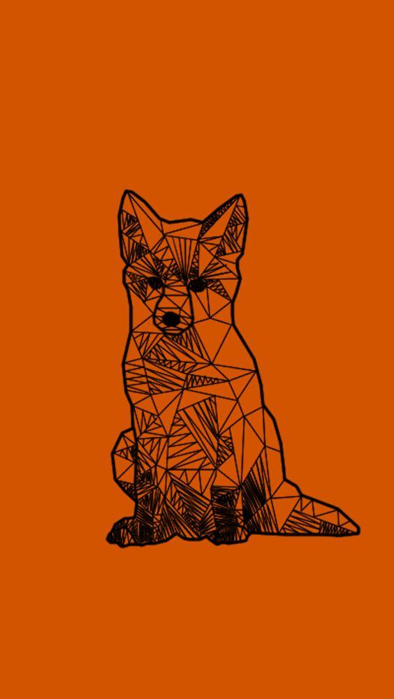 iphone5 wallpaper puff the fox my work Pinterest