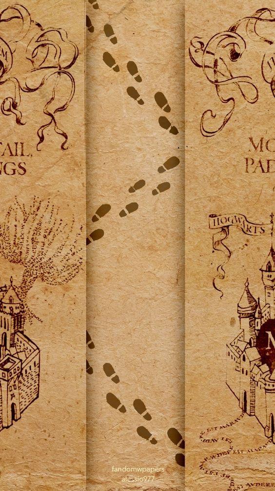 marauder s map iphone wallpaper-#3