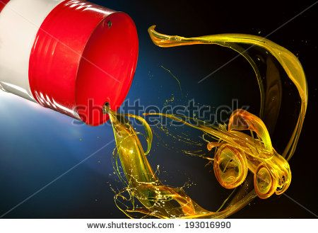 a barrel of gasoline, which follows in the form of car - stock photo