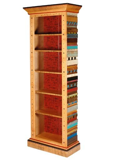 "David Marsh's fun andfunctional Tesoros Nena Bookcase adds personality to any room! Named ""Tesoros"" (spanis"