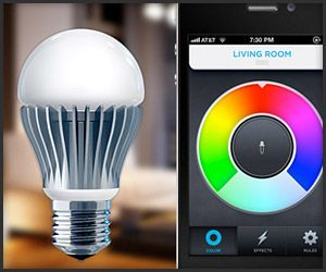 An innovative 40,000 hour LED lightbulb which can be controlled wirelessly via your smartphone, and set to any color you desire. Control one or many lights all from the palm of your hand