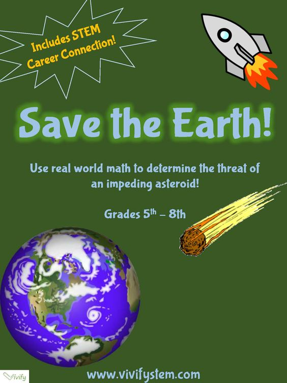 Save the Earth! Critical Thinking Space Themed STEM Activity. Students use critical thinking and creativity to come up with ideas to stop an impeding asteroid. A great science or STEM activity to get students excited about space. The activity is flexible and can be tailored to fit your time constraints. Additional background is provided on the resources page including real strategies being developed by scientists and engineers. STEM career connection is included.