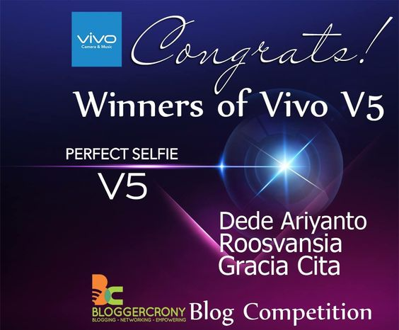 Winners of Vivo V5 Blog Competition Periode November 2016