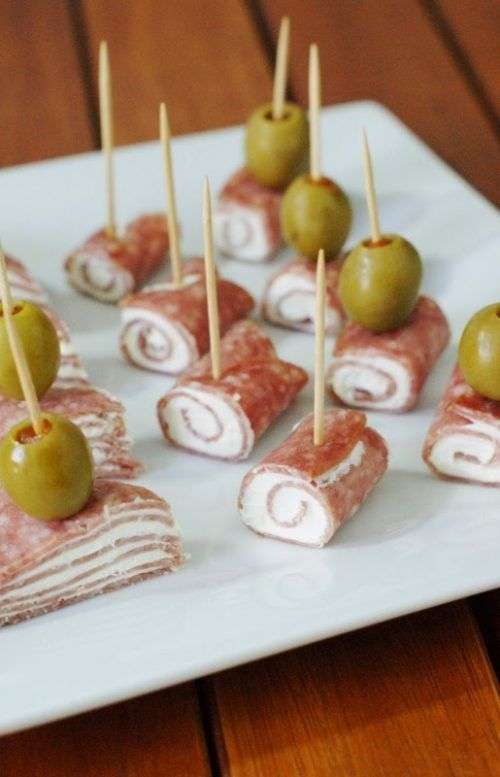 Salami Cream Cheese Bites and Tailgating Recipes and Football Party Food Ideas for your stadium gathering on Frugal Coupon Living. Dessert Football Recipes. Appetizers for game day.