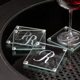 Cathy's Concepts 1158 Personalized Glass Coasters #wedding