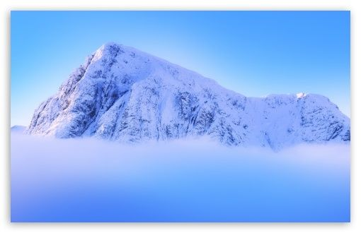 Snowy Mountain Peak Above Clouds Hd Wallpaper For 4k Uhd Widescreen Desktop Smartphone Hd Nature Wallpapers Nature Desktop Wallpaper Snowy Mountains